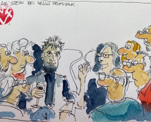 Malte WulfUli Stein 495x400 - Promi-Talk mit Cartoonist Uli Stein