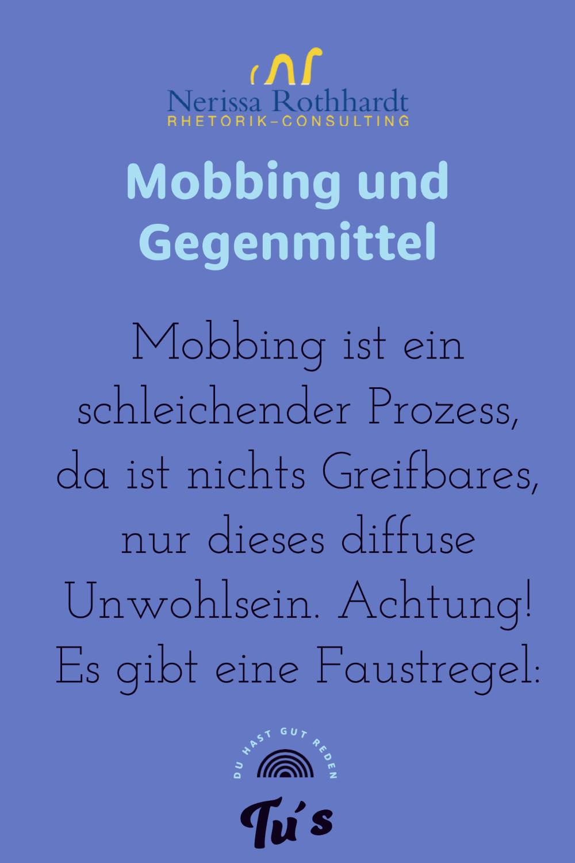 Mobbing und Gegenmittel 1 - Blog