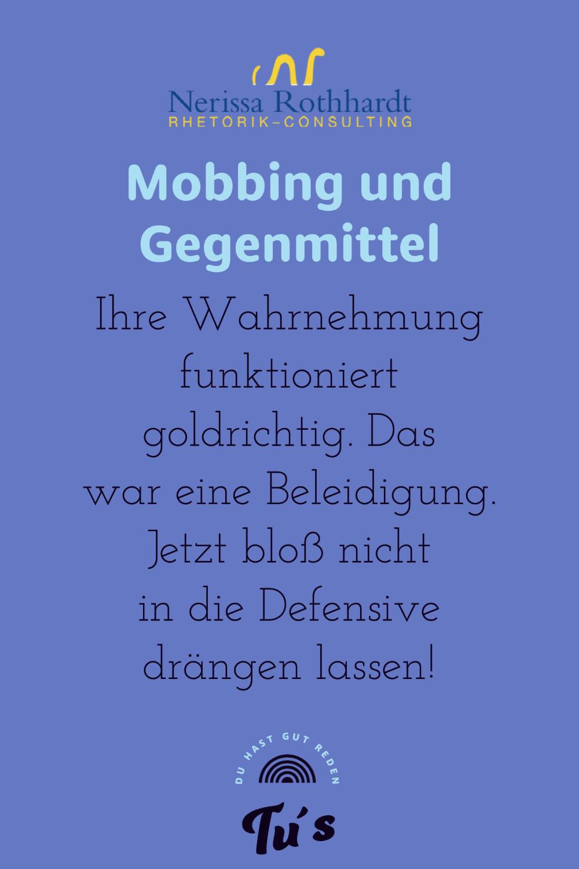 Mobbing und Gegenmittel 2 - Blog