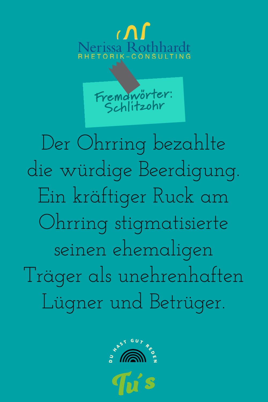 Rhetorik Consulting Fremdwoerter Schlitzohr jpg - Woher kommt eigentlich die Redewendung ...