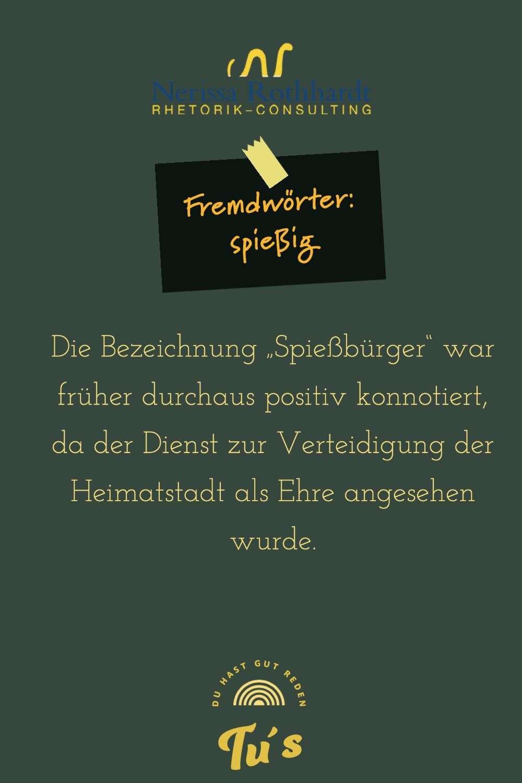 Rhetorik Consulting Fremdwoerter spiessig - Blog